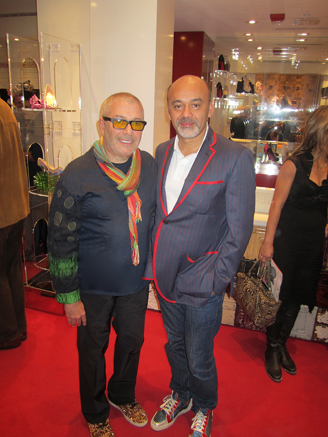 Leland with Christian Louboutin.