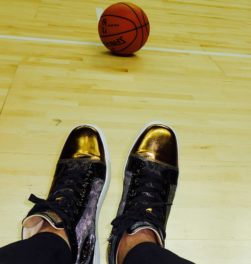 When fashion meets sports. Louboutin's on the basketball court.