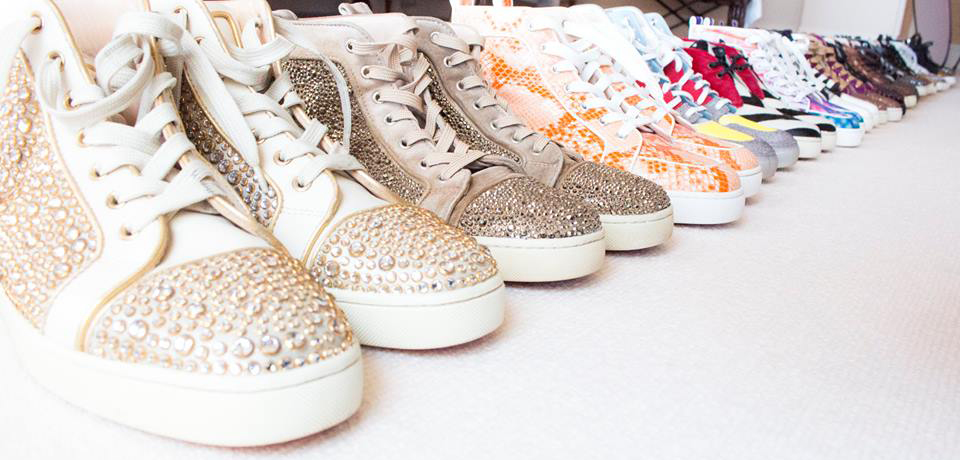 My collection of Christian Louboutin shoes inspired by color, texture, and bling.